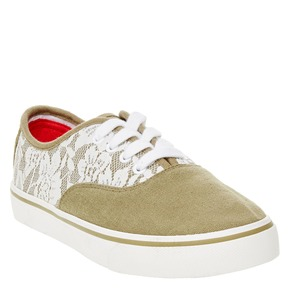 Sneakers in tela con pizzo north-star, khaki, 549-7222 - 13