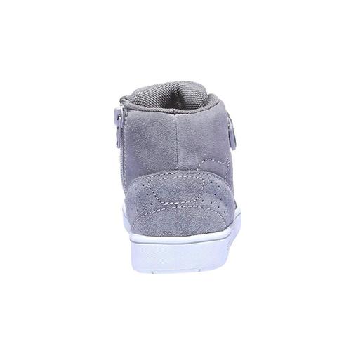 Sneakers da bambino in pelle mini-b, grigio, 213-2134 - 17