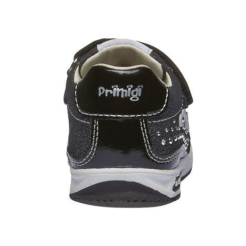 Sneakers in pelle con chiusure a velcro primigi, nero, 123-6134 - 17