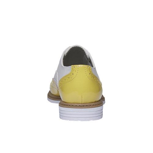 Scarpe basse da bambino in stile Spectator shoes mini-b, giallo, 321-8178 - 17