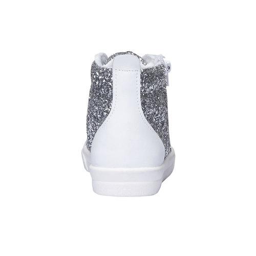 Sneakers alla caviglia con glitter north-star-junior, bianco, 329-1206 - 17