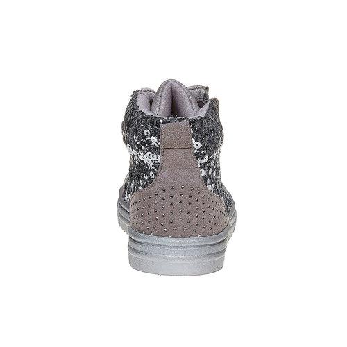 Sneakers da bambina con glitter mini-b, grigio, 329-2216 - 17