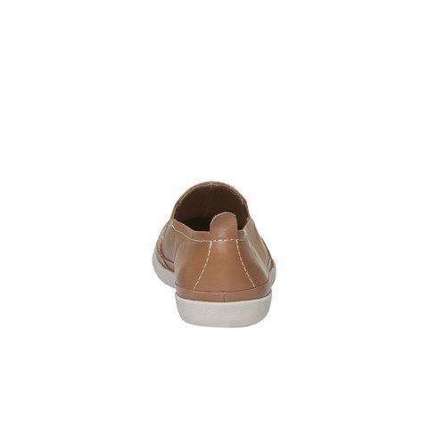 Plim Soll di pelle con perforazioni bata-light, marrone, 514-3197 - 17