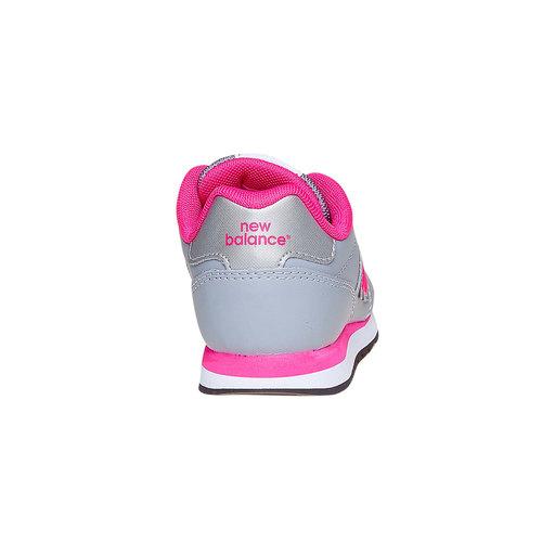 Sneakers da bambina con chiusure a velcro new-balance, grigio, 301-2500 - 17