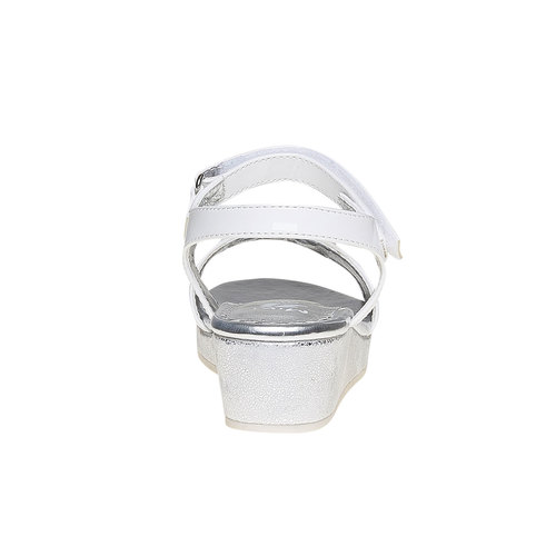 Sandali per bambina con tacco a cono mini-b, bianco, 361-1176 - 17