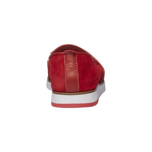 Slip-on di pelle con perforazioni flexible, rosso, 513-5200 - 17