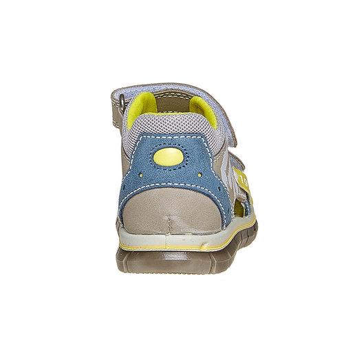 Sandali in pelle per bambino con velcro primigi, marrone, 166-3122 - 17