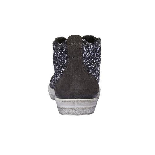 Sneakers alla caviglia con glitter north-star-junior, grigio, 329-2198 - 17