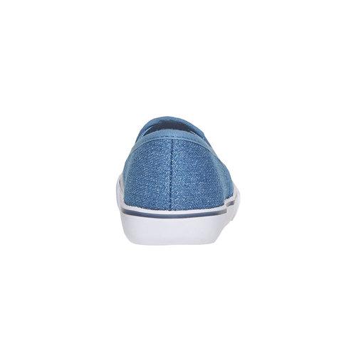 Slip-on da ragazza con strass mini-b, blu, 229-9148 - 17