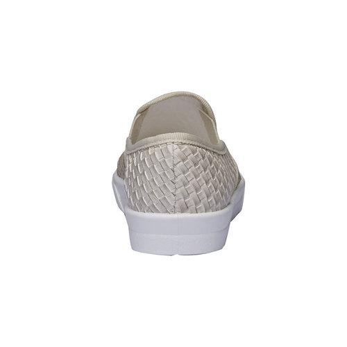 Sneakers alla moda dal design intrecciato bata, giallo, 511-8124 - 17