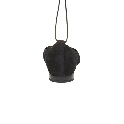 Ballerine nere con lacci bata, nero, 523-6211 - 17