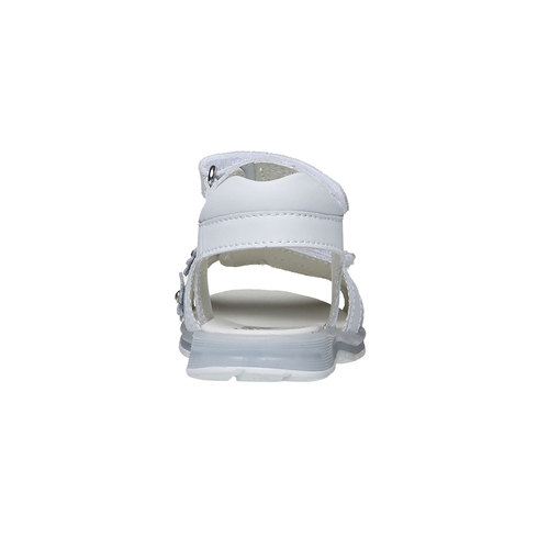 Sandali in pelle bianca mini-b, bianco, 264-1163 - 17