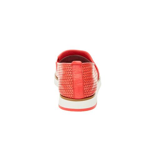 Slip-on da donna con motivo intrecciato flexible, rosso, 515-5203 - 17