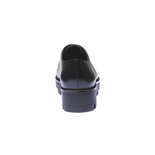 Scarpe basse con suola massiccia bata, nero, 521-6398 - 17