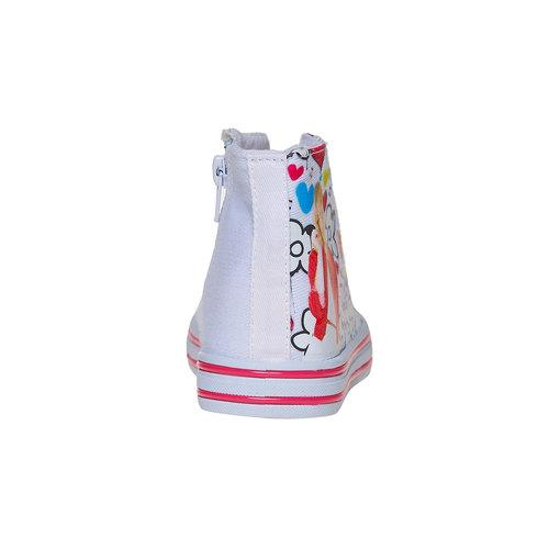 Sneakers da bambina alla caviglia violetta, bianco, 329-1179 - 17