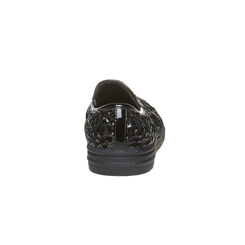 Slip-on da bambina con glitter mini-b, nero, 329-6229 - 17