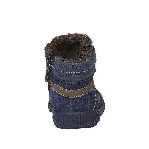 Sneakers in pelle alla caviglia con fodera calda primigi, viola, 193-9106 - 17