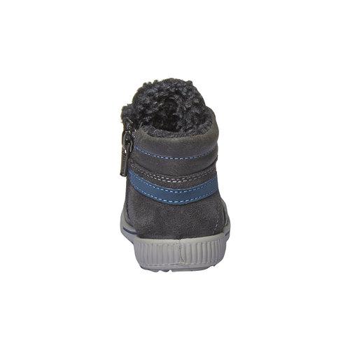Sneakers in pelle alla caviglia con cerniera primigi, grigio, 193-2106 - 17