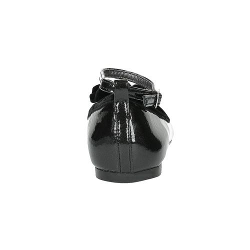 Ballerine da ragazza con fiocco mini-b, nero, 321-6190 - 17