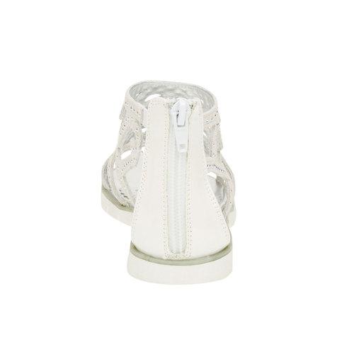 Sandali in pelle con pietre mini-b, bianco, 363-1170 - 17