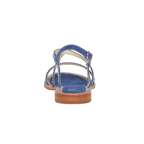 Sandali con strass mini-b, blu, 369-9169 - 17