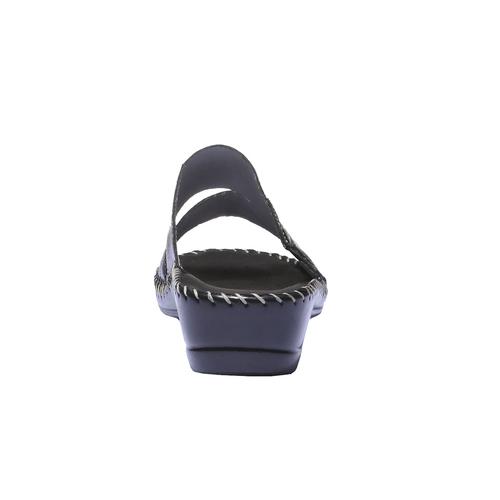 Sandali in pelle bata-comfit, nero, 574-6174 - 17