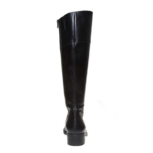 Stivali di pelle bata, nero, 594-6223 - 17