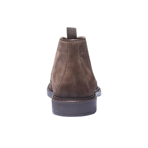 Scarpe Chukka in pelle bata, marrone, 893-4520 - 17