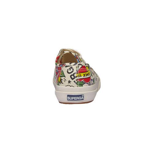 Sneakers con stampa colorata superga, bianco, 589-1219 - 17