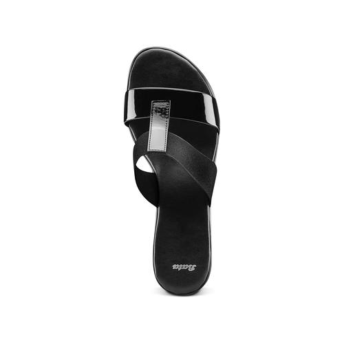 Sandali da donna con tacco basso bata, nero, 671-6835 - 17