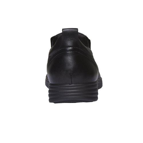 Slip-On di pelle air-system, nero, 814-6133 - 17