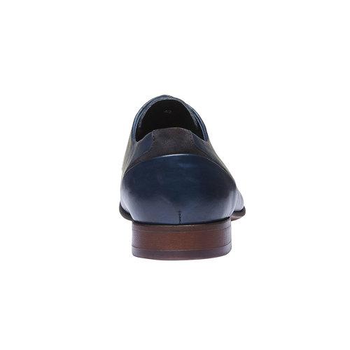 Scarpe basse di pelle in stile Derby bata, viola, 824-9538 - 17