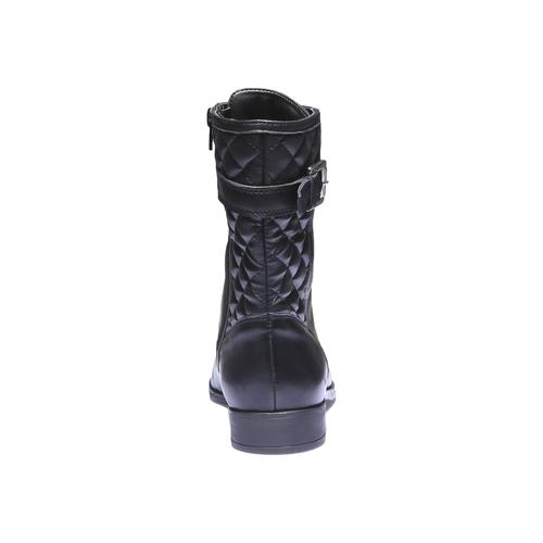 Scarpe di pelle alla caviglia con cuciture bata, nero, 594-6160 - 17