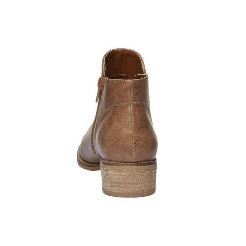 Stivaletti alla caviglia con tacco basso bata, marrone, 591-3578 - 17