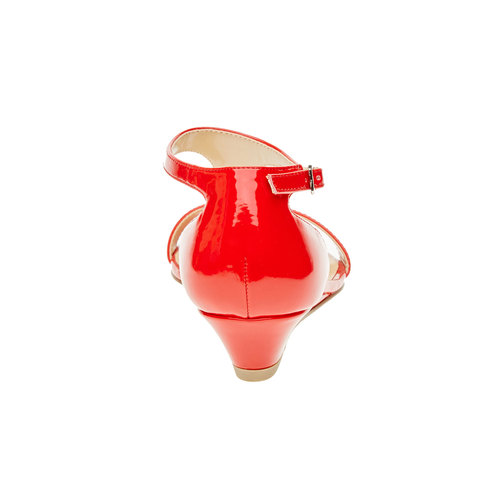 Sandali rossi da donna con cinturino sul collo del piede bata, rosso, 561-5407 - 17