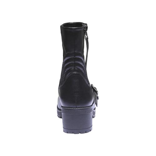 Scarpe da donna con cuciture bata, nero, 691-6149 - 17