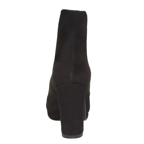 Stivaletti in pelle con lati elastici bata, nero, 793-6570 - 17