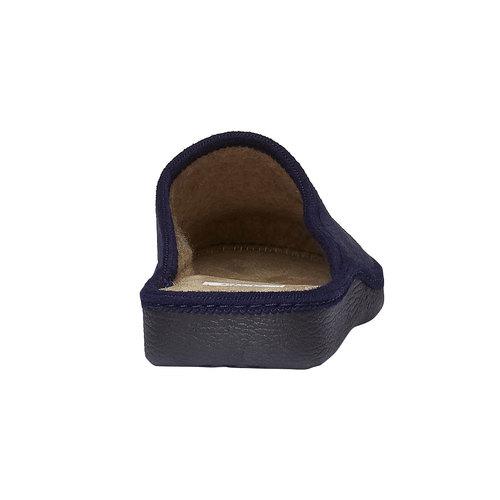Ciabatte uomo in tessuto bata, blu, 879-9165 - 17