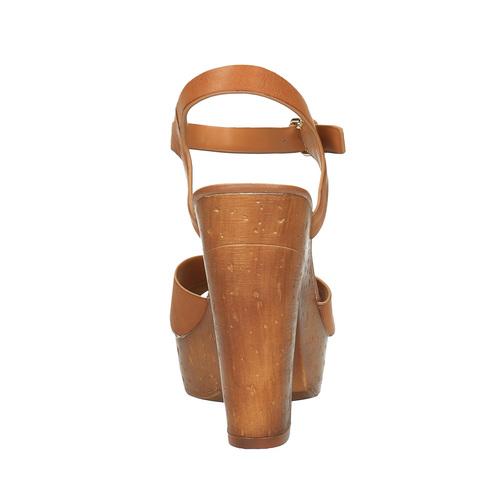 Sandali con tacco massiccio bata, marrone, 761-3500 - 17
