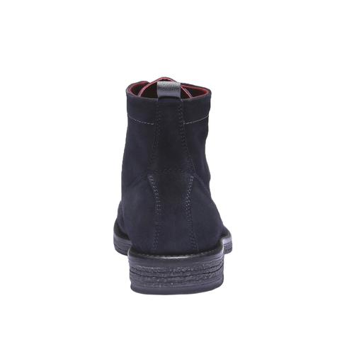 Scarpe di pelle alla caviglia bata, blu, 893-9204 - 17