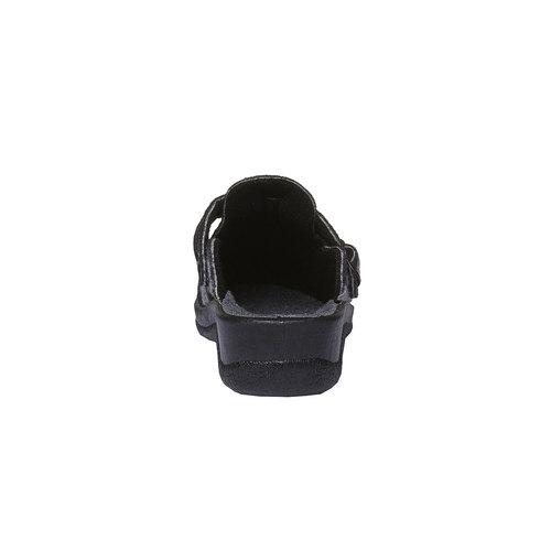 Pantofole da donna con punta chiusa bata, nero, 579-6221 - 17