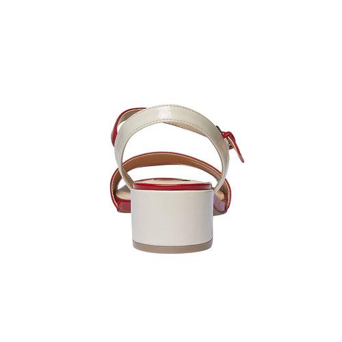 Sandali da donna con tacco basso bata, rosso, 661-5112 - 17