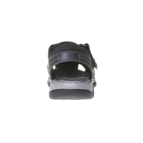 Sandali da uomo in pelle weinbrenner, nero, 864-6213 - 17