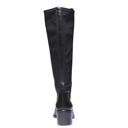 Stivali di pelle bata, nero, 694-6249 - 17