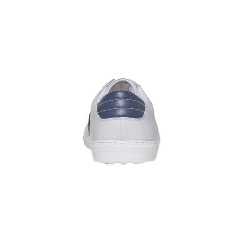 Sneakers bianche di pelle bata, bianco, 844-1639 - 17