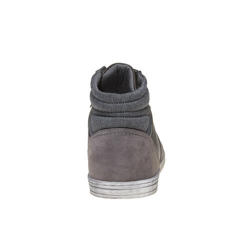 Sneakers grigie sopra la caviglia bata, grigio, 841-2694 - 17