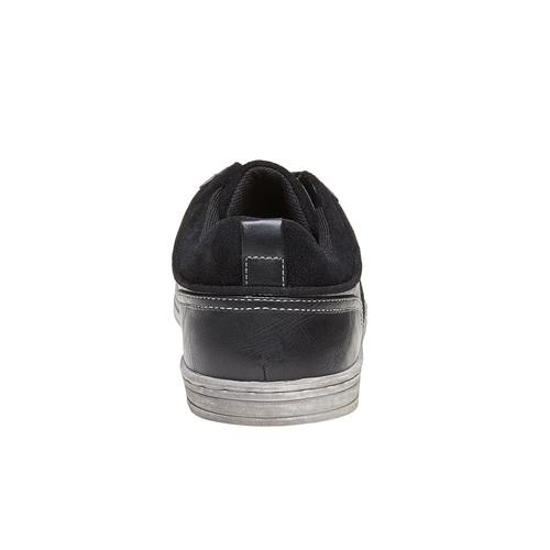 Sneakers nere da uomo bata, nero, 841-6404 - 17
