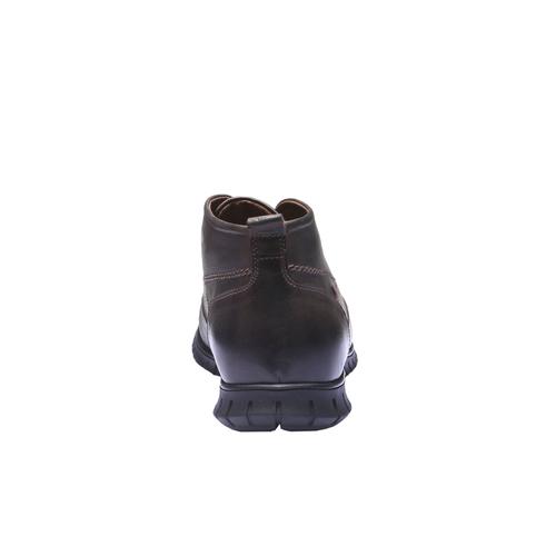 Sneakers in pelle informali bata, marrone, 894-4191 - 17