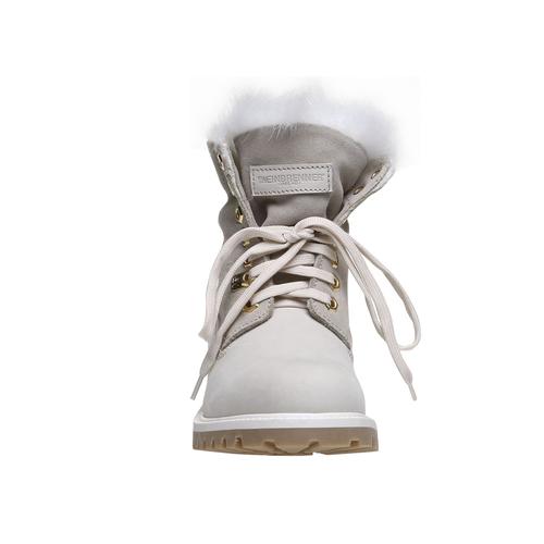 Scarpe in pelle con suola a carrarmato weinbrenner, bianco, 596-1883 - 16