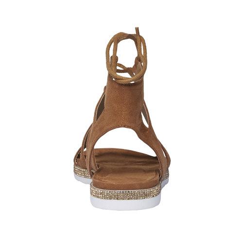 Sandali da donna di tipo gladiatore bata, marrone, 569-3388 - 17